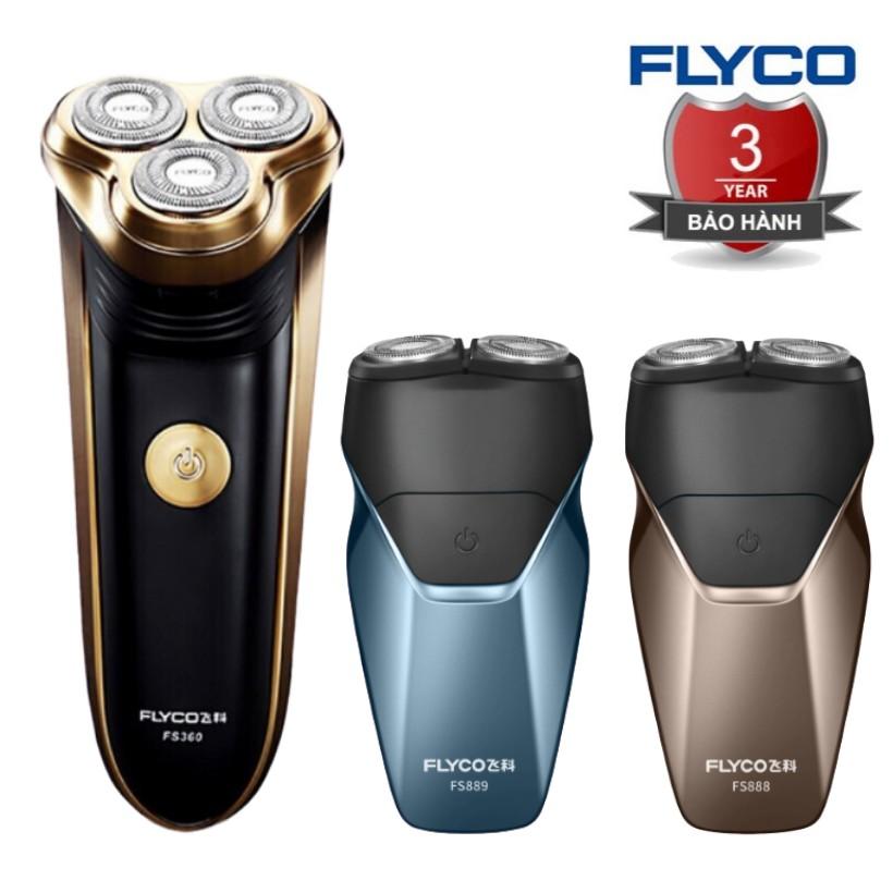 [TEM FLYCO] Máy Cạo Râu Nam FS887 Flyco 3 Lưỡi Dao Thông Minh II BH 36 Tháng (Tỉa Bấm Tông Đơ Cắt Tóc Mai)