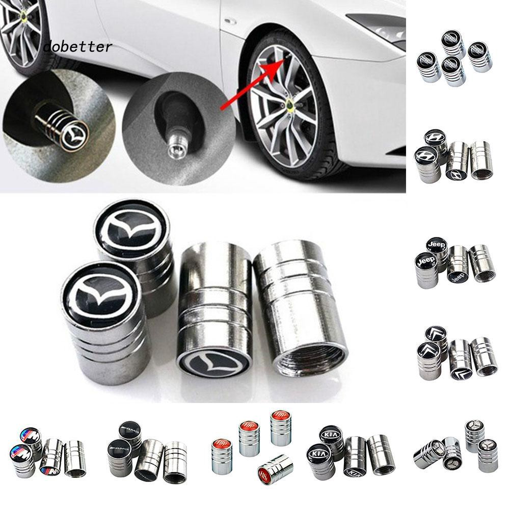 DOBT_Metal Car Wheel Tire Valves Stem Caps Cover for AMG Hyundai Kia Jeep Fiat Mazda