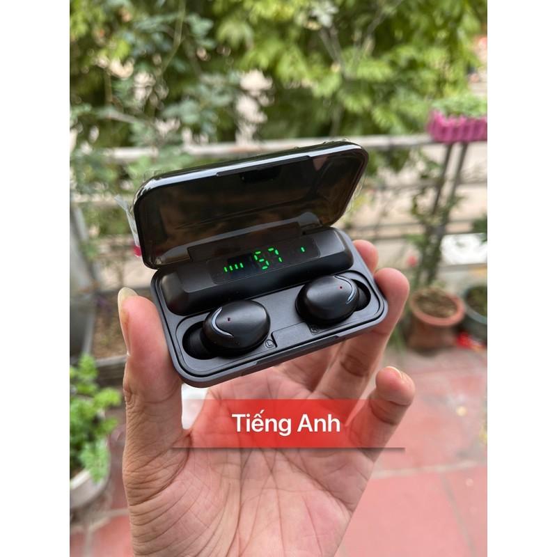 [BẢN QUỐC TẾ] Tai nghe True Wireless Amoi F9 PRO Bluetooth 5.0 phiên bản cảm ứng, chống nước