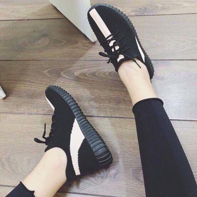 [Có Sẵn] Giày Thể Thao Nữ Không Dây - Giày Sneaker Nữ Không Dây