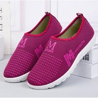 Giày lười màu hồng cho nữ