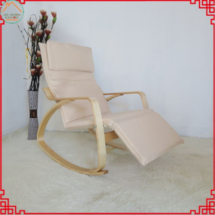Ghế Poang dài thư giãn, ghế bập bênh có gác chân