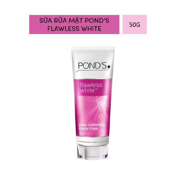 [HB GIFT] Sữa rửa mặt sáng da cao cấp Pond s Flawless White TM- Trắng không tì vết 50g thumbnail