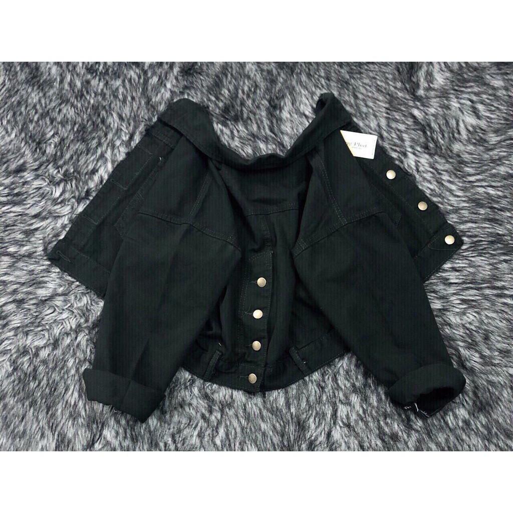 Áo kaki nữ crottop phom rộng,kêt hợp nút sau lưng, chất vải kaki jean không phai màu