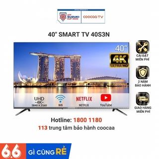 Smart TV Full HD Coocaa 40 Inch Tivi - Tràn Viền - Model 40S3N (Bạc) - Miễn phí lắp đặt thumbnail