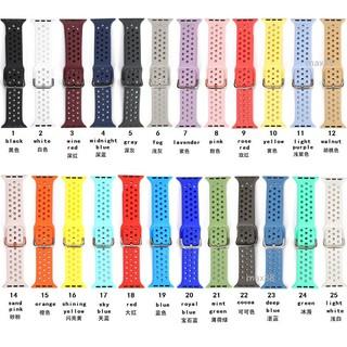 Dây đeo silicon 38/40mm 42/44mm có khóa kim loại cho Apple Watch series 1/2/3/4/5/6 SE Sport Edition