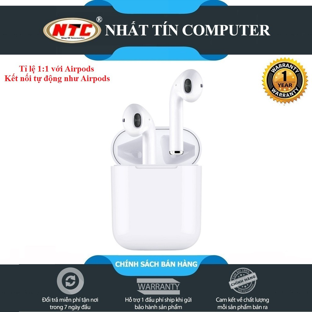 Tai nghe bluetooth True Wireless WIWU Airbuds IV sạc không dây và cảm ứng chạm (Trắng)