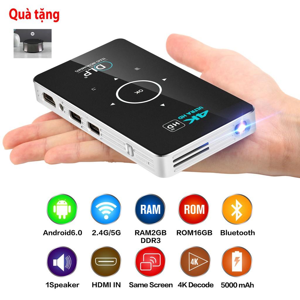 Máy chiếu mini thông minh 4K thương hiệu Mỹ TEXAS Giá chỉ 6.900.000₫