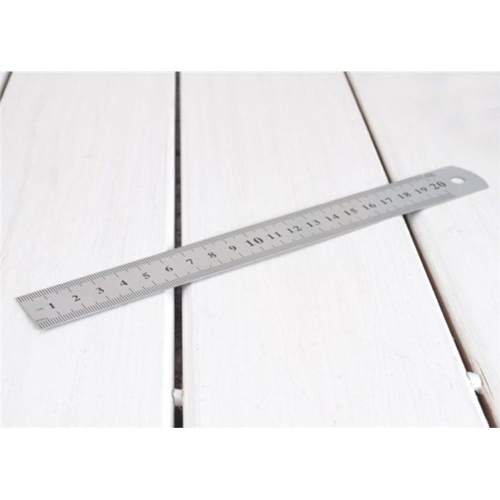 [XẢ KHO GIÁ SỐC] dụng cụ học tập-Thước kẻ thép 15-30cm | Bán Chạy