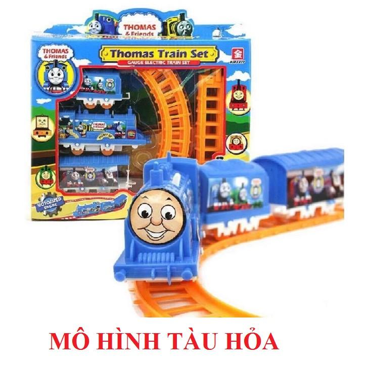 Đồ chơi mô xe lửa chạy trên vòng - Tàu hỏa Thomas lượn vòng cho bé