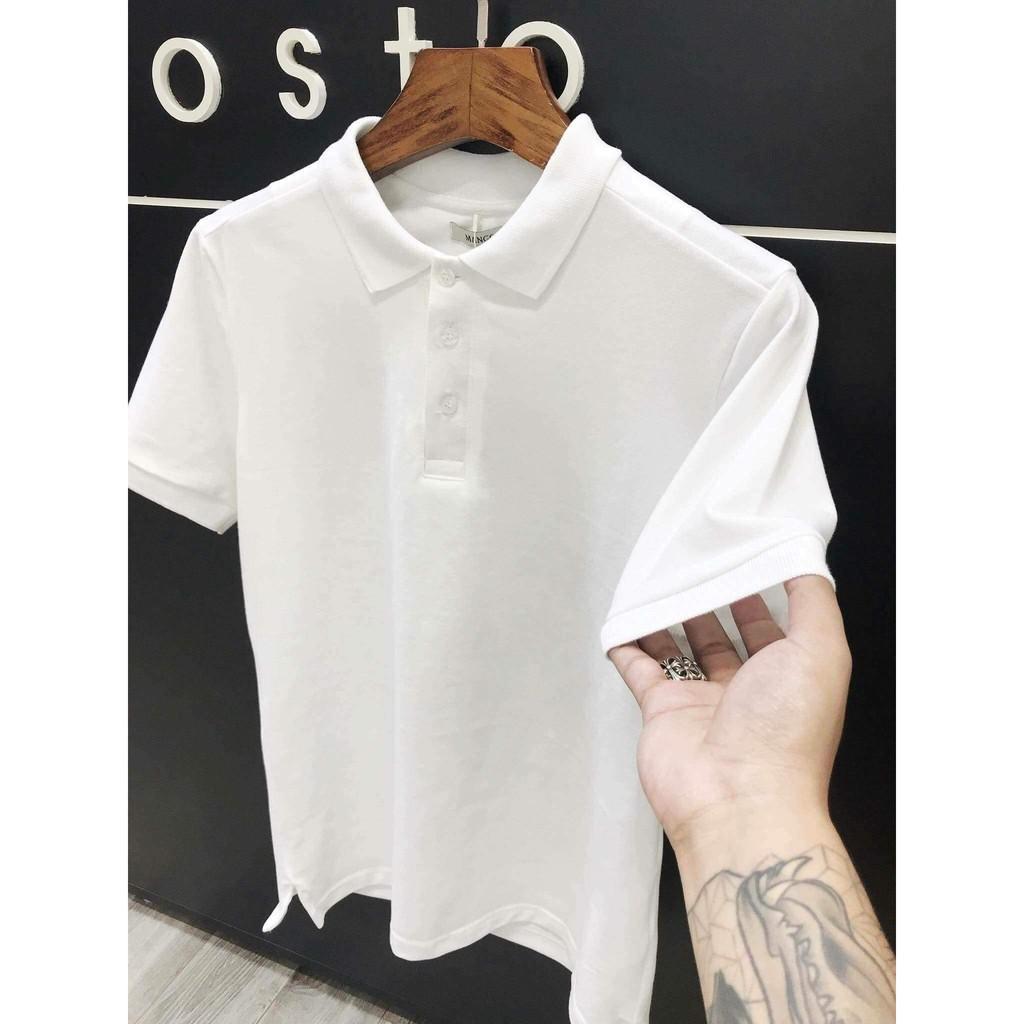 Áo thun nam ngắn tay CỔ BẺ cao cấp - Chất liệu cotton , không nhăn, thoáng mát, thấm hút mồ hôi