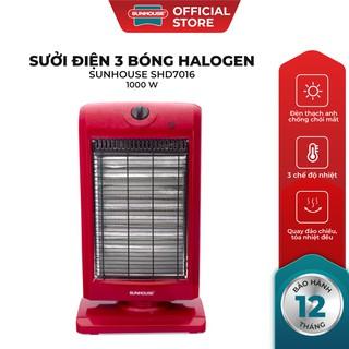 Sươ i điê n 3 bóng Halogen Sunhouse SHD7016 đo đen thumbnail