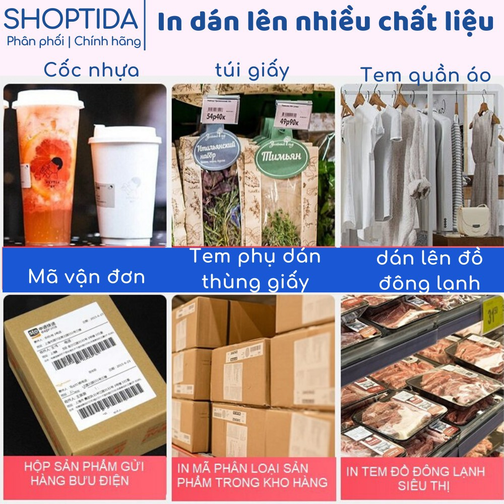 Giấy in nhiệt Shoptida 12000 tờ A6 10*15cm 3 lớp tự dán chống nước, sử dụng cho máy in nhiệt Shoptida SP46