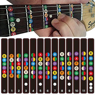 Electric Acoustic Guitar Scale Sticker Fretboard Decal For Beginner Learner
