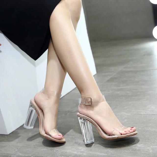 [Mã WSTOPT9 hoàn 30K xu đơn từ 150K] Giày Sandal quai trong mica ( hàng Việt Nam )
