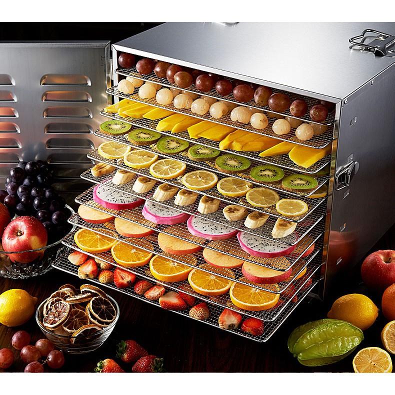 Máy sấy thực phẩm 10 khay, tủ sấy hoa quả, sấy thuốc