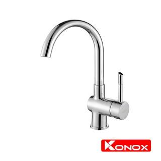 Vòi rửa bát xoay 360 KONOX KN1206 hợp kim đồng 61% tiêu chuẩn Châu Âu CW617N, bề mặt xử lý công nghệ PVD Chrome 5 lớp