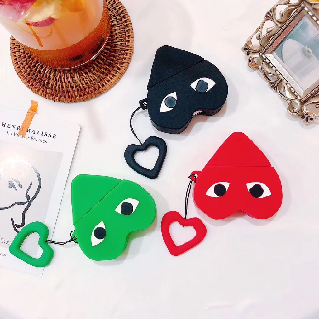 Creative Love Airpods 1/2 Generation Silicone Protective Set for Apple Infinite Bluetooth Headset