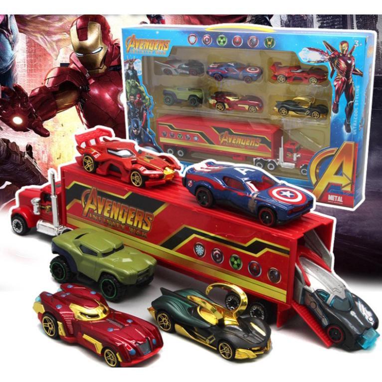 Bộ đồ chơi xe đua địa hình siêu anh hùng thumbnail