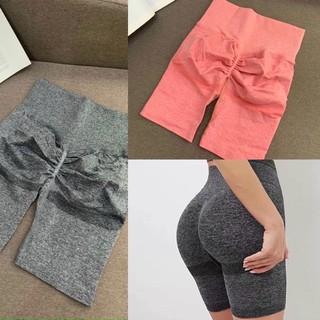 Quần đùi cạp cao có chun mông SEXY tập gym yoga vải dệt kim tôn vòng 3 nâng mông siêu quyến rũ tôn dáng giặt nhanh khô