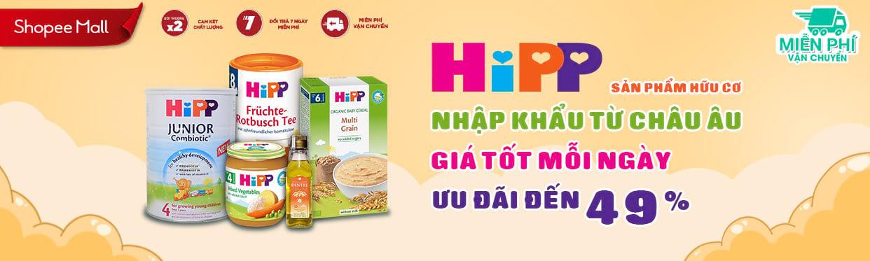 Hipp chính hãng đã có mặt tại Shopee - click ngay để xem ưu đãi mỗi ngày