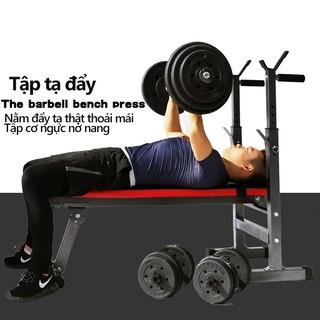ghế tập tạ đa năng ghế gập bụng ghê tập gym đa năng thiết bị thể thao có thể gấp gọn tiện lợi nhanh chóng màu đỏ đen mạn