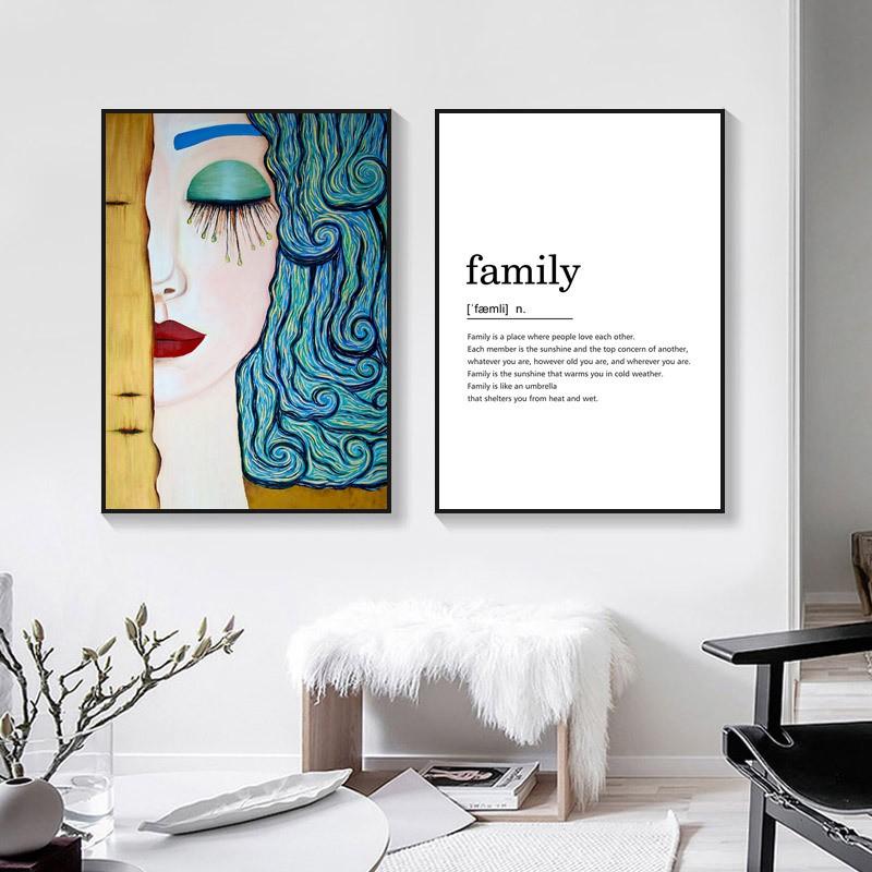 Tranh treo tường gia đình vải canvas in 3D trang trí nghệ thuật hiện đại sang trọng