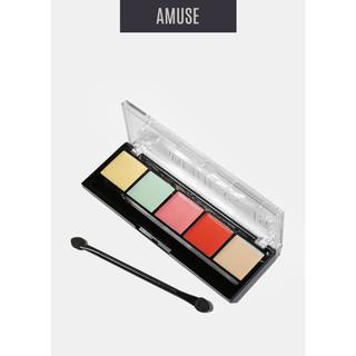 BẢNG CHE KHUYẾT ĐIỂM & TẠO KHỐI AMUSE 5 Color Concealer & Corrector Palette thumbnail