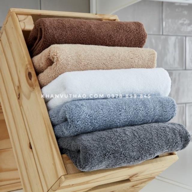 Khăn tắm 40x85cm xuất Hàn dư màu rất sang 100% cotton siêu thấm