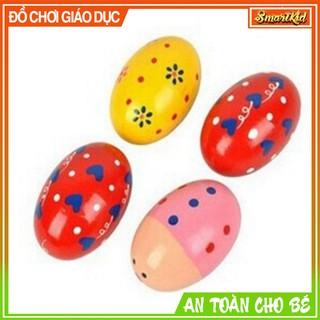 Trứng Gỗ Phát Âm Thanh Nhiều Màu Đồ Chơi Âm Nhạc thumbnail