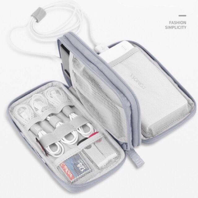 Túi phụ kiện công nghệ đựng pin sạc dự phòng, điện thoại, cáp sạc usb, tai nghe chính hãng BUBM có quai cầm CDBSC CDBMYB