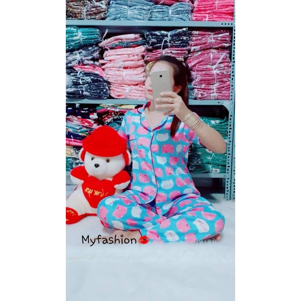 Bộ Pijama Kate Thái (Tay ngắn, quần dài)