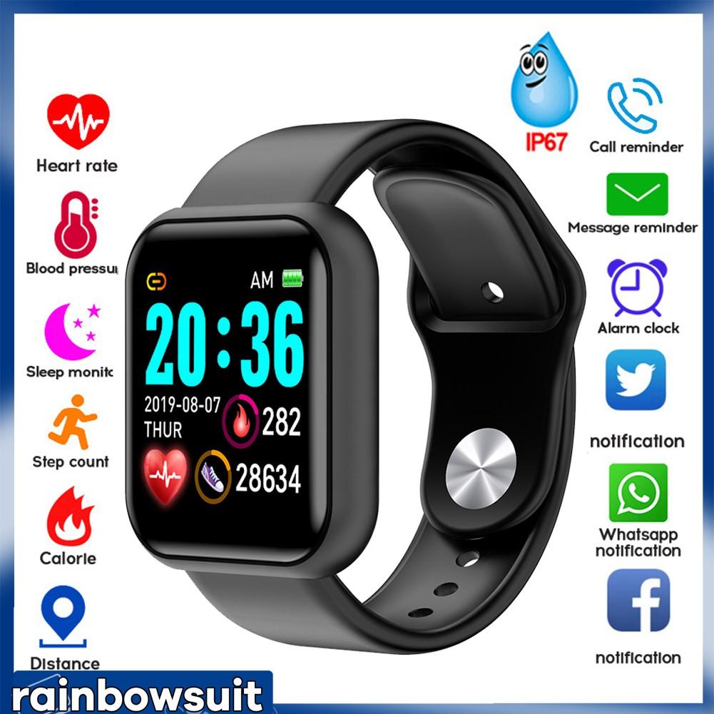 Vòng đeo tay thông minh đo nhịp tim không thấm nước Y68 cho iOS Android