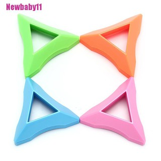[BABY11] 10PCS Magic Cube Display Stand ABS Triangle Base Lightweight Color Random