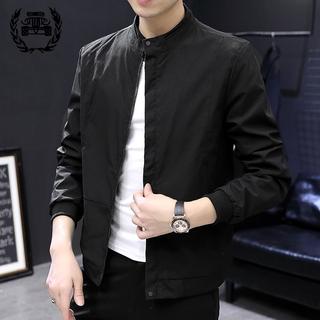Jacket men's Korean style fashion zipper long-sleeved men's jacket multi-pocket jacket