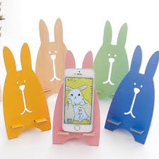 giá đỡ điện thoại hình thỏ lắp ghép
