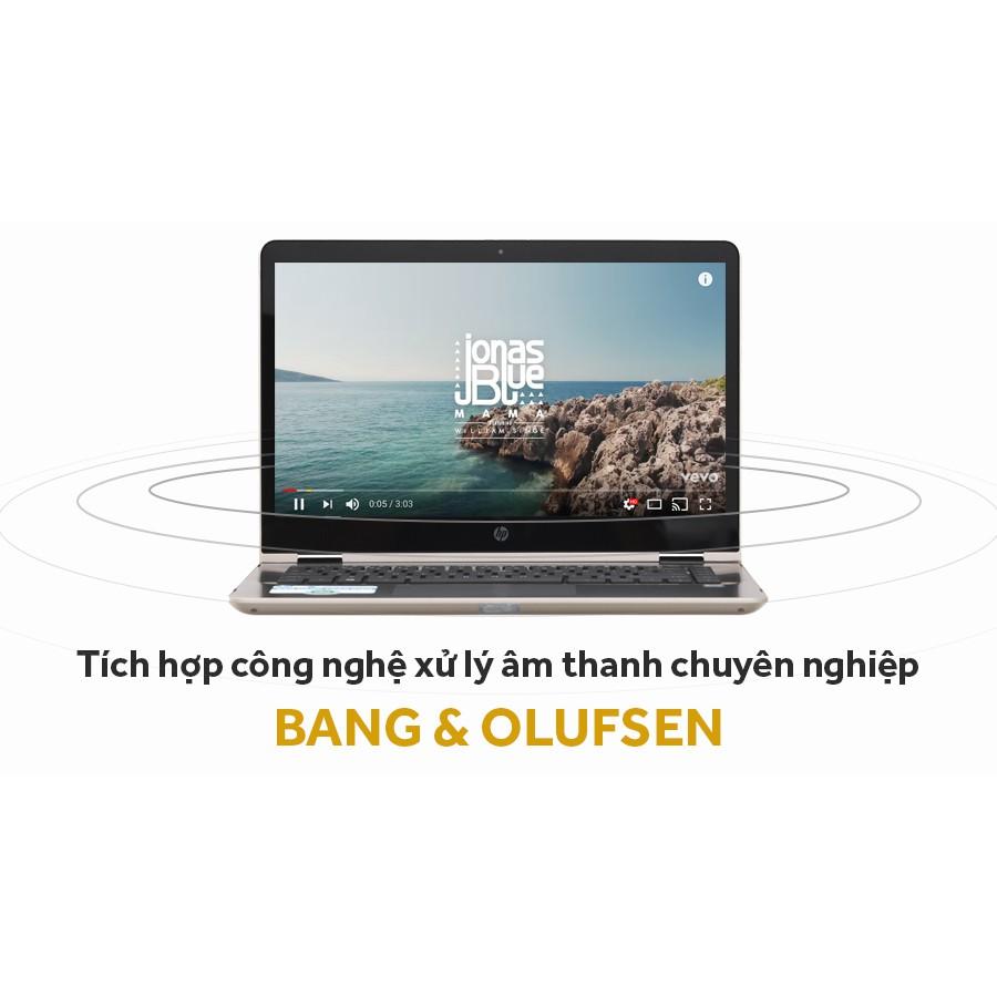 Laptop màn hình cảm ứng,bản lề xoay 360 độ - HP Pavilion X360 - ba063tu - Core i3 7100, Ram 4GB DDR4, ổ cứng SSD 128GB