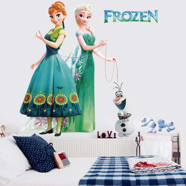 Nice Cartoon 3D Frozen Mural Decals Home Decor Removable Wall Sticker Kids Love