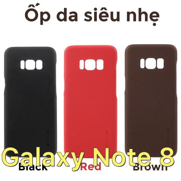 Ốp lưng bằng da siêu mỏng chính hãng G-Case cho Samsung Galaxy Note 8
