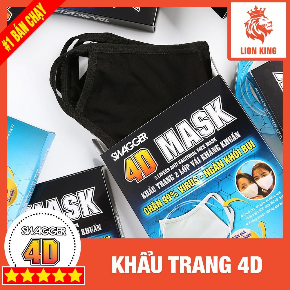 [4D Mask] Hộp 5 Khẩu Trang Swagger - Hiệu Quả 20 Lần Giặt
