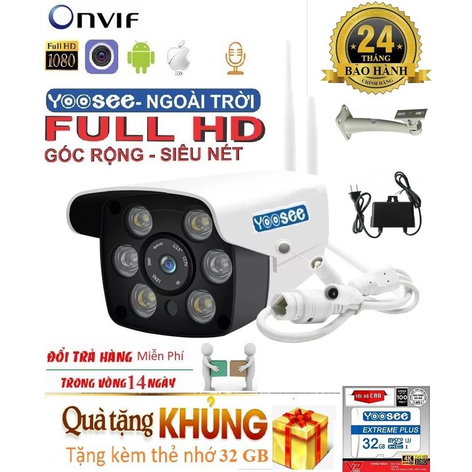 (Tặng Thẻ nhớ Chuẩn 32 GB,Bảo Hành 12 tháng)Camera Wifi Trong nhà-ngoài trời Yoosee ZQ26-2.0Mpx- FULL HD,XEM ĐÊM CÓ MÀU
