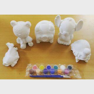 Tô tượng, combo 5 con giống và dây 6 màu, 1 cọ vẽ