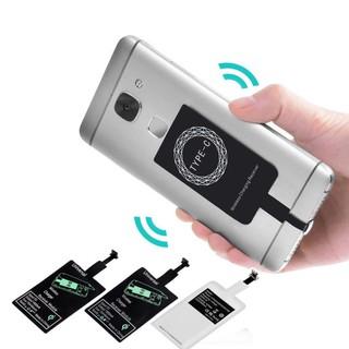 Miếng Dán Hỗ Trợ Sạc Không Dây Chuẩn Qi Đầu Android/Type-C/Lightning iPhone