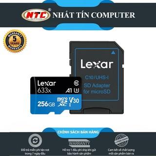 [Mã ELMSBC giảm 8% đơn 300K] Thẻ Nhớ MicroSDXC Lexar 256GB A1 V30 633x U3 4K 95MB/s - kèm Adapter (Xanh)