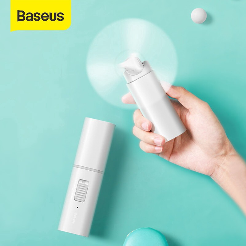 Quạt Mini Cầm tay/ Để bàn tích điện pin sạc Baseus Square Portable Folding Fan - Hàng Chính Hãng