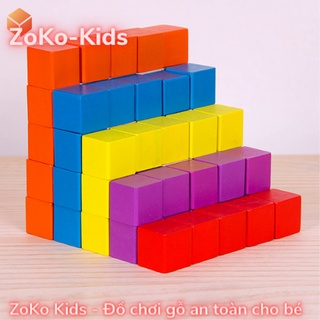 100 Khối gỗ lập phương - khối vuông bằng gỗ - cube 2.5cm thumbnail