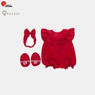 Bộ đồ jumpsuit cho bé gái trẻ sơ sinh màu đỏ BABYWANT