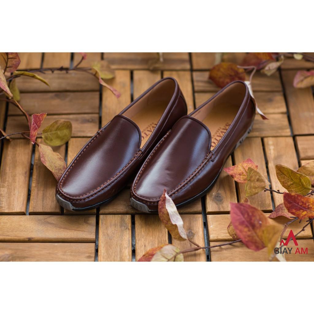 Giày lười da bò nguyên tấm mới nhất- AML04 tốt nhất thị trường