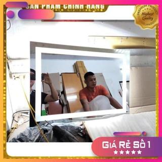 [Bao giá – Bao gãy vỡ do vận chuyển] Gương Phòng Tắm Liền Đèn Led Cảm Ứng 3 Màu chạm thông minh kích thước 50×75 cm