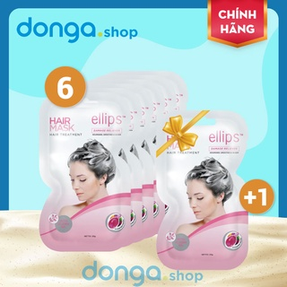 Kem ủ tóc Ellips hồng - Phục hồi tóc hư tổn từ bên trong - Mua 6 tặng 1 thumbnail